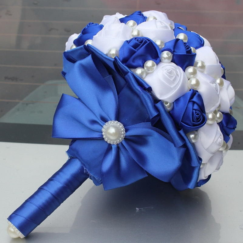 Pop new royal blue white color wedding bouquets storesixty pop new royal blue white color wedding bouquets mightylinksfo