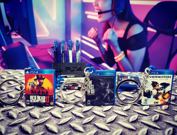 Miniature DVD and Game Case Keyrings