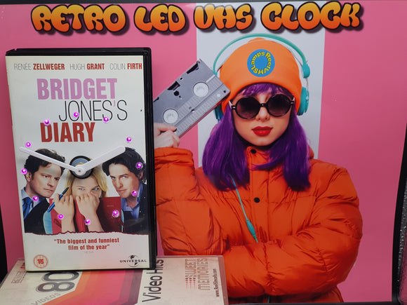 Bridget Jones's Diary Retro Original Backlit LED VHS Clock