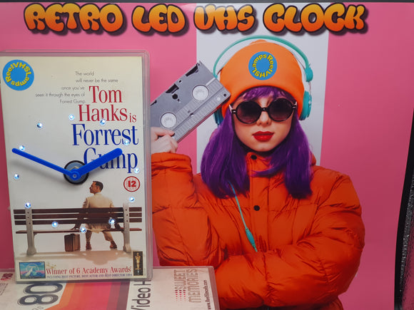 Forrest Gump Retro Original Backlit LED VHS Clock