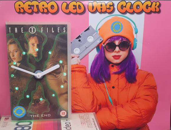 The X-Files Retro Original Backlit LED VHS Clock