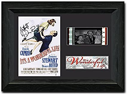 It's a Wonderful Life 35mm Framed Film Cell Display - Cast Signed