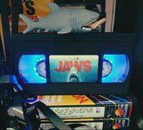 Texas Chainsaw Massacre Retro VHS Lamp with a mini Chainsaw with Sound effects