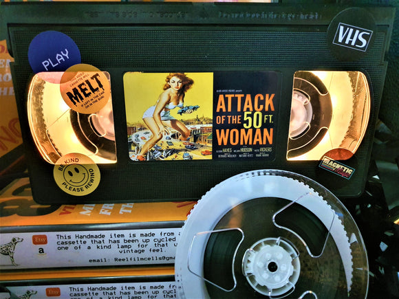 Attack of the 50ft Woman Retro VHS Lamp