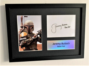 Jeremy Bulloch as Boba Fett A4 Autographed Display