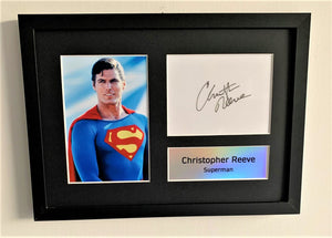 Christopher Reeve as Superman A4 Autographed Display