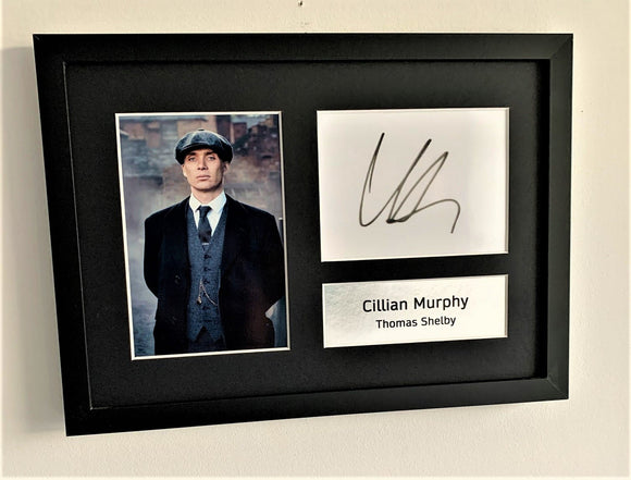 Cillian Murphy as Thomas Shelby A4 Autographed Display