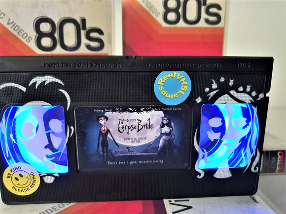 Corpse Bride Retro VHS Lamp With Art Work