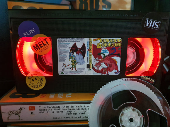 Dungeons and Dragons Retro VHS Lamp S1