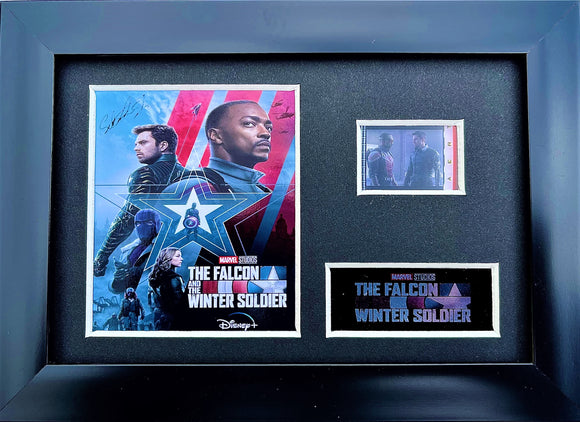 The Falcon and the Winter Soldier S1 35mm Framed Film Cell Display - Cast Signed