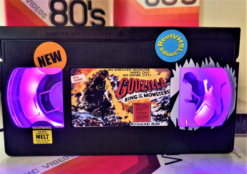Godzilla Retro VHS Lamp With Art Work