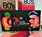 Halloween Retro VHS Lamp With Art Work