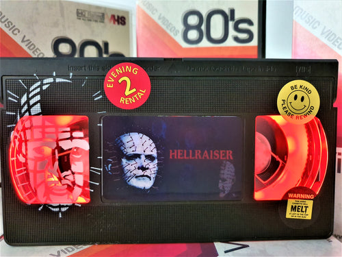 Hellraiser Retro VHS Lamp With Art Work