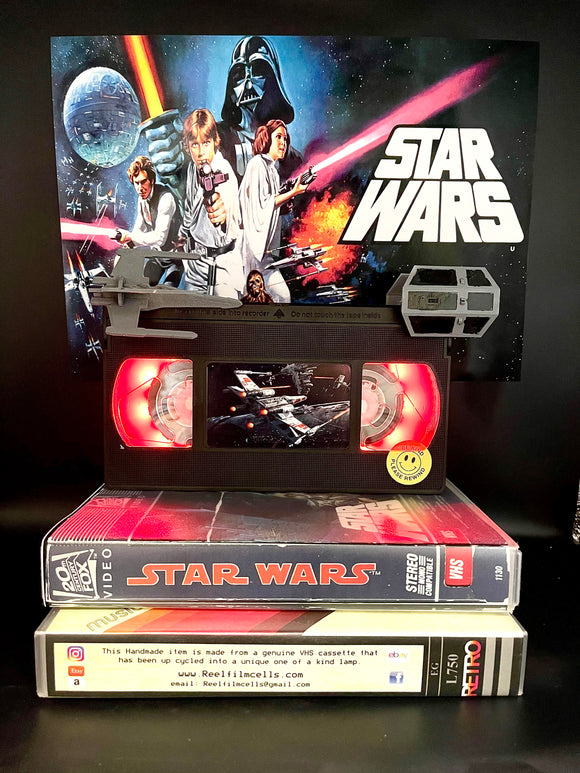 Star Wars Retro VHS Lamp - with X-Wing and Tai Fighter models