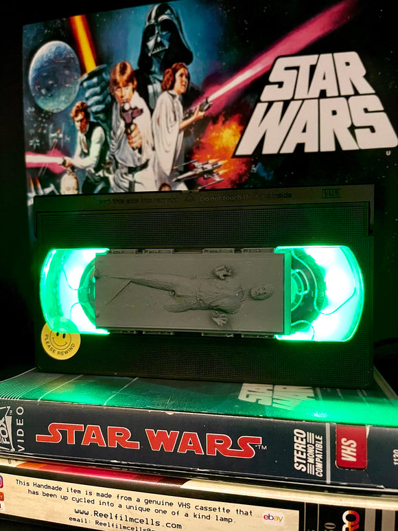 Han Solo Star Wars Retro VHS Lamp - with Han Solo in carbonite