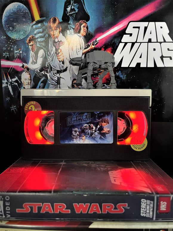 Star Wars The Empire Strikes Back Retro VHS Lamp - with ATAT figure