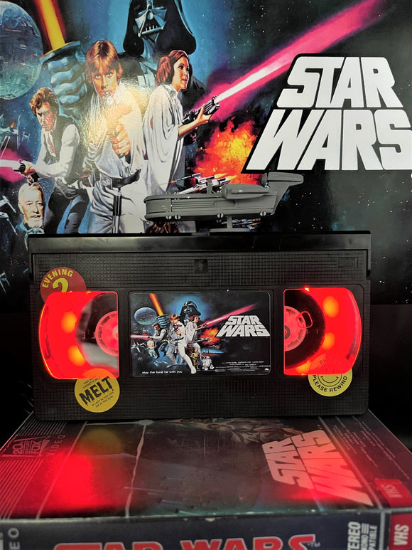Star Wars A New Hope Retro VHS Lamp - with Land Speeder figure