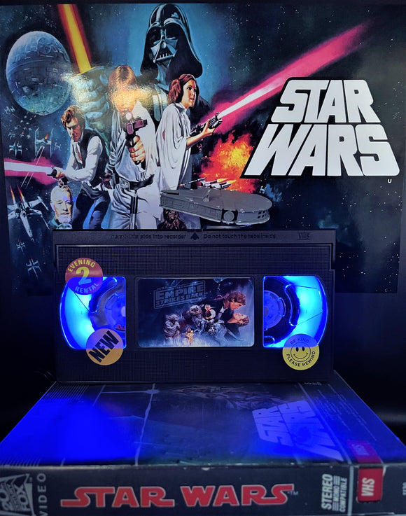 Star Wars The Empire Strikes Back Retro VHS Lamp - with Millennium Falcon figure