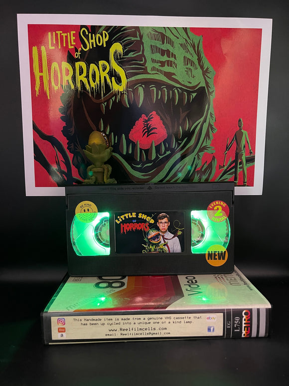 Little Shop of Horrors Retro VHS Lamp - with Audrey II model