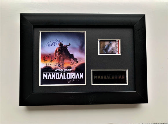 The Mandalorian S1 35mm Framed Film Cell Display - Cast Signed