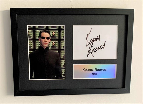 Keanu Reeves as Neo A4 Autographed Display
