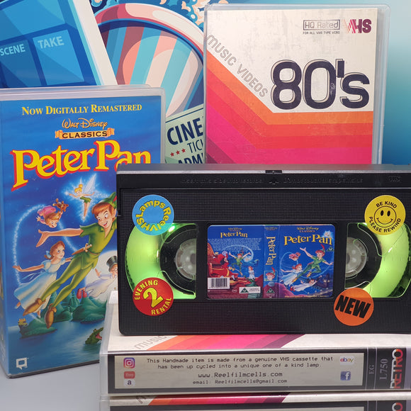 Peter Pan Retro VHS Lamp
