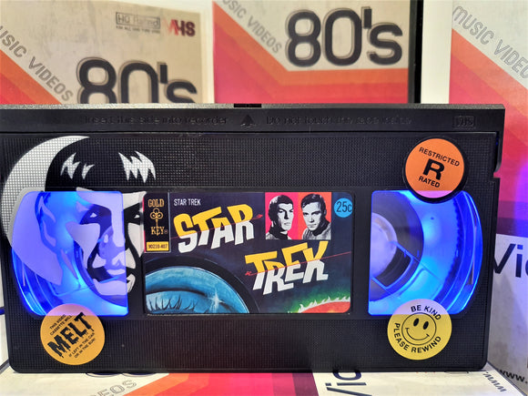 Star Trek Mr Spock Retro VHS Lamp With Art Work