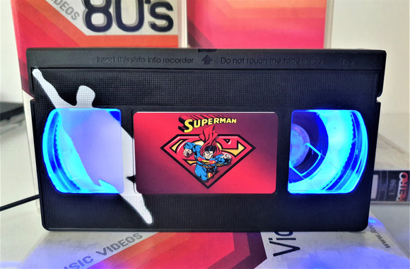 Superman Comic Retro VHS Lamp With Art Work