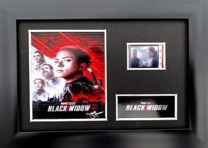 Black Widow S2 35mm Framed Film Cell Display - Cast Signed
