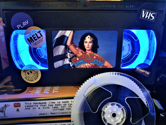 Wonder Woman Retro VHS Lamp