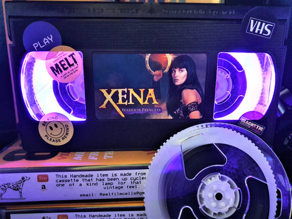 Xena Warrior Princess Retro VHS Lamp