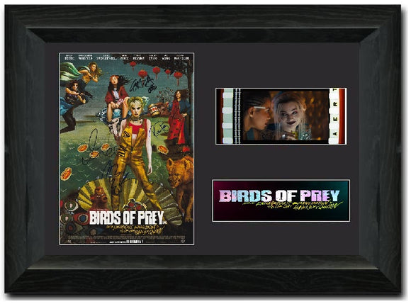 Birds of Prey 35mm Framed Film Cell Display Signed