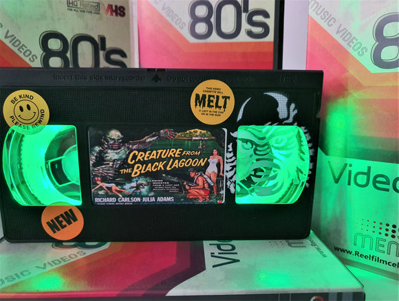 Creature From The Black Lagoon Retro VHS Lamp With Art Work