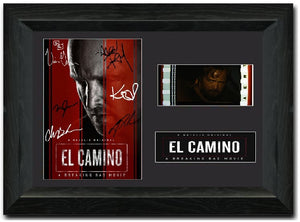 El Camino S1 Cast Signed 35mm Framed Film Cell Display