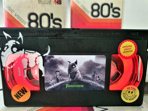 Frankenweenie Retro VHS Lamp With Art Work