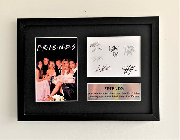Friends A4 Autographed Display