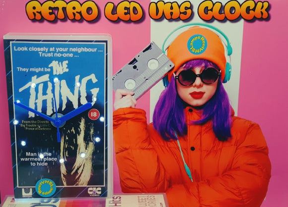 The Thing Retro Original Backlit LED VHS Clock