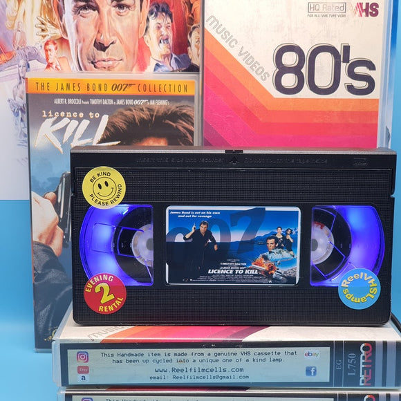 Licence to Kill Retro VHS Lamp