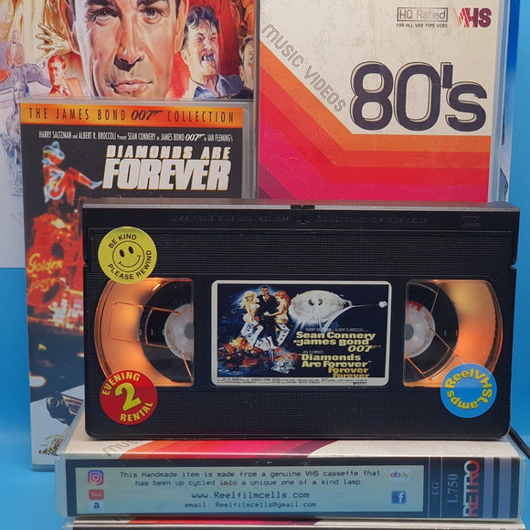 Diamonds Are Forever Retro VHS Lamp