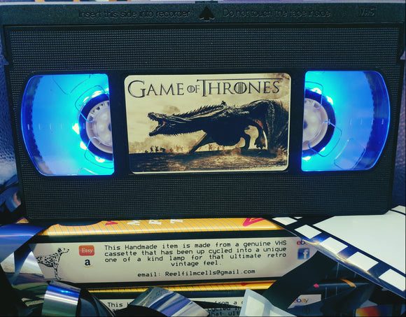 Game Of Thrones Retro VHS Lamp