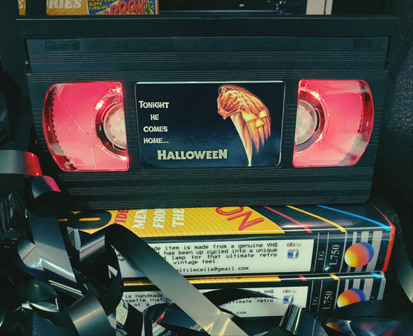 Halloween Retro VHS Lamp
