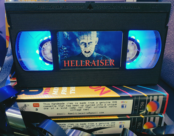 Hell raiser Horror Retro VHS Lamp