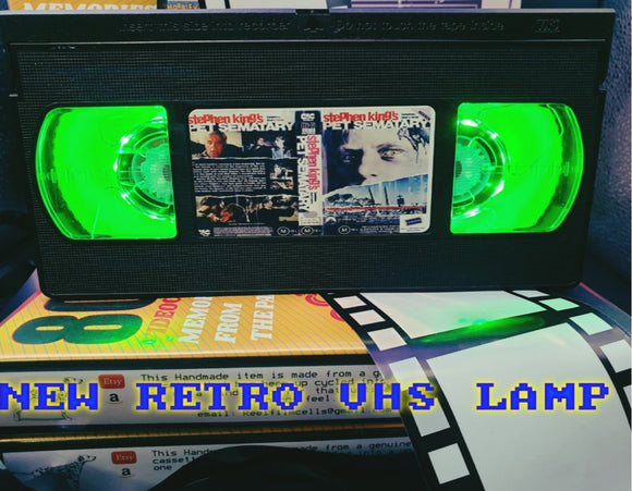 Pet Sematary Retro VHS Lamp