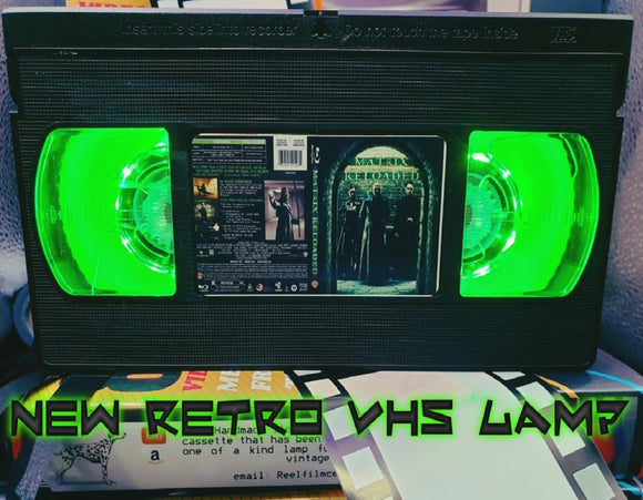 The Matrix Reloaded Retro VHS Lamp