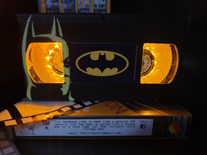 Batman Retro VHS Lamp with glow in the dark artwork