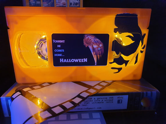 Halloween Retro VHS Lamp with Art work LTD Edition