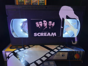 Scream Retro VHS Lamp with Art work