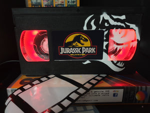 Jurassic Park Retro VHS Lamp with Art Work