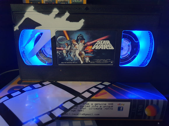Star Wars A New Hope Retro VHS Lamp with Art Work