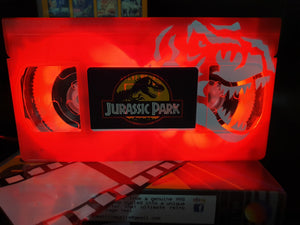 Jurassic Park Retro VHS Lamp with Art Work LTD Edition